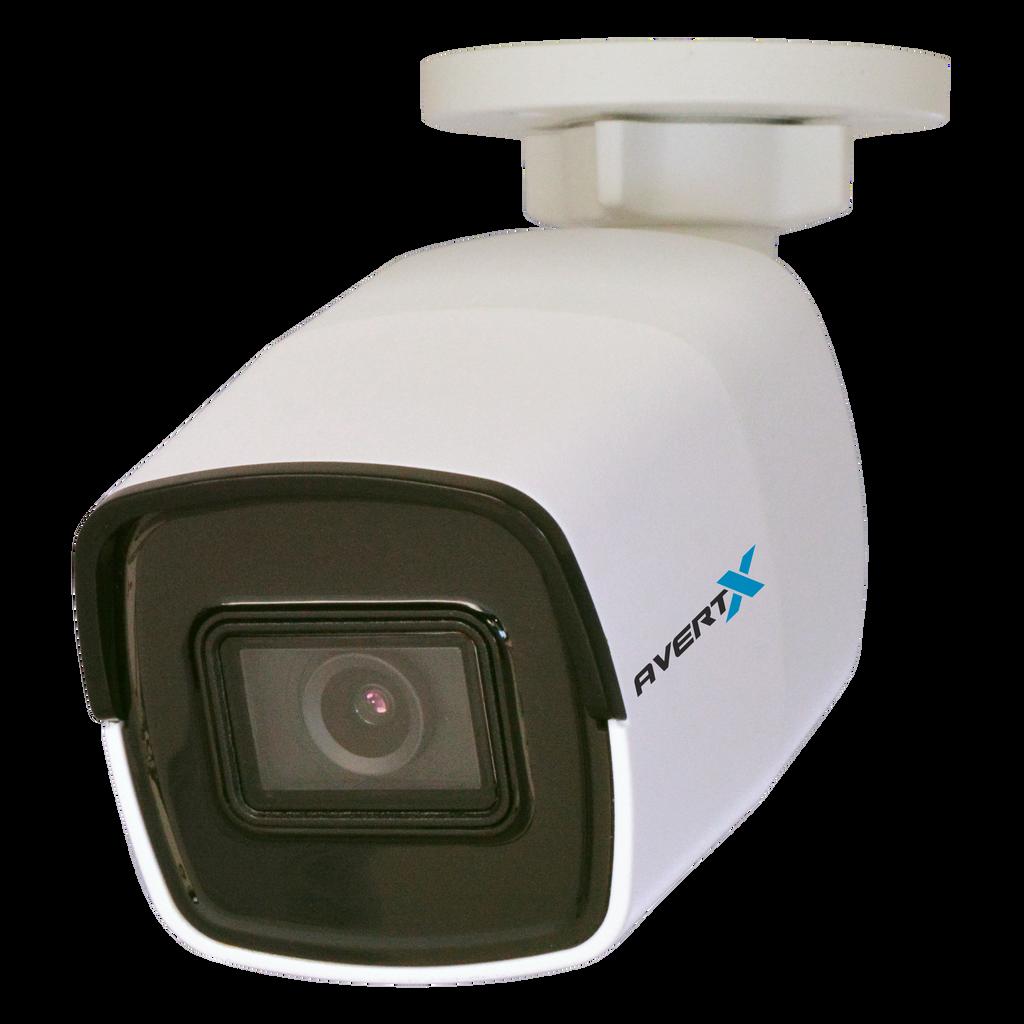 Avertx HD448 4K IR Indoor/Outdoor Mini IP Bullet Camera with Smart Analytics