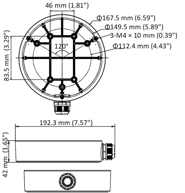 AC-119JB Dimensions