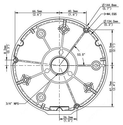 AC-820JB Dimensions