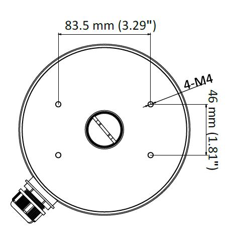 AC-830JB Dimensions