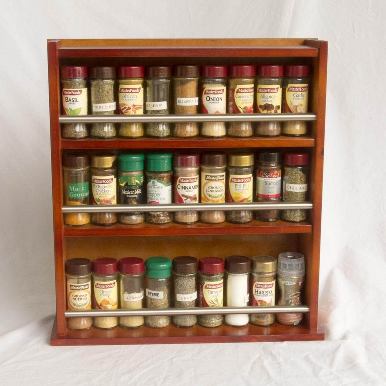 Woodworking Plans For Kitchen Spice Rack: Closed Top