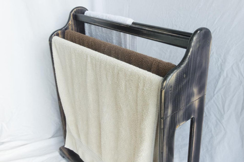 The towel rack is portable and can be moved easily around the home when the towels need airing or closer to a heater for quicker drying of towels.