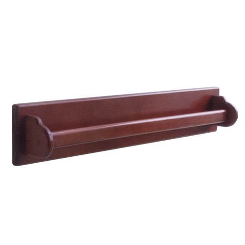 "The towel bar has 1 wooden rung that is 700mm/27"" wide to hang bath towels or hand towels"