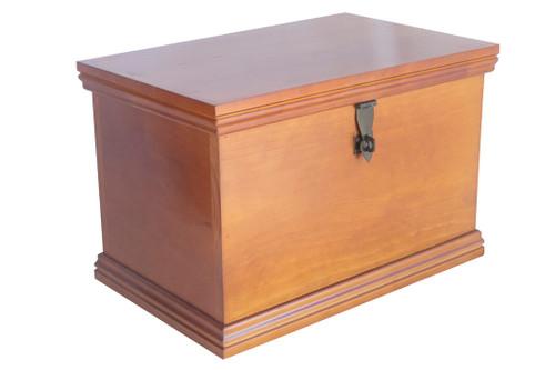 The memory box is fully assembled and ready to store treasured keepsakes, mementoes and photos