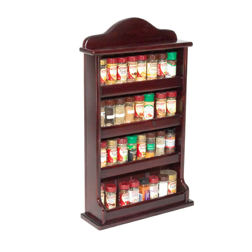 This solid handmade wooden spice rack can store 32 regular 40g spice jars. Can be used freestanding or wall-mounted, thus freeing up valuable space in your kitchen.