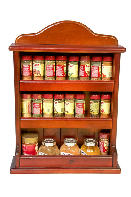 The spice rack is fully assembled and ready for use and can store upto 24 regular 40g spice jars across three tiers
