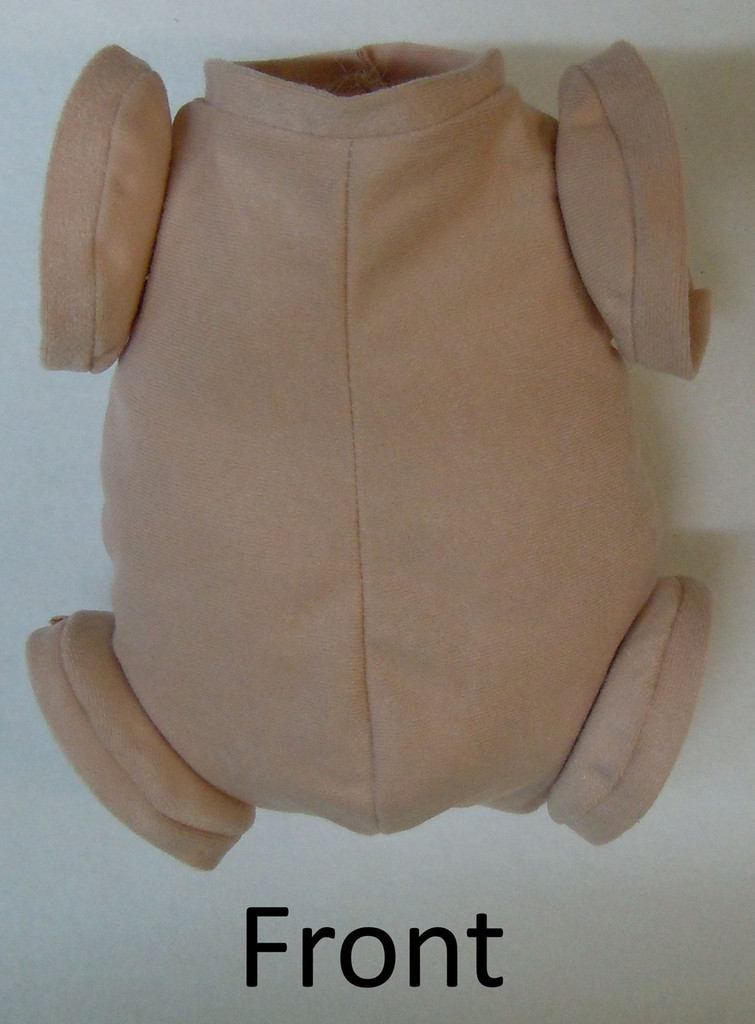 """Doe Suede Body for 19-21"""" Dolls Full Jointed Arms Full Jointed Legs #589"""