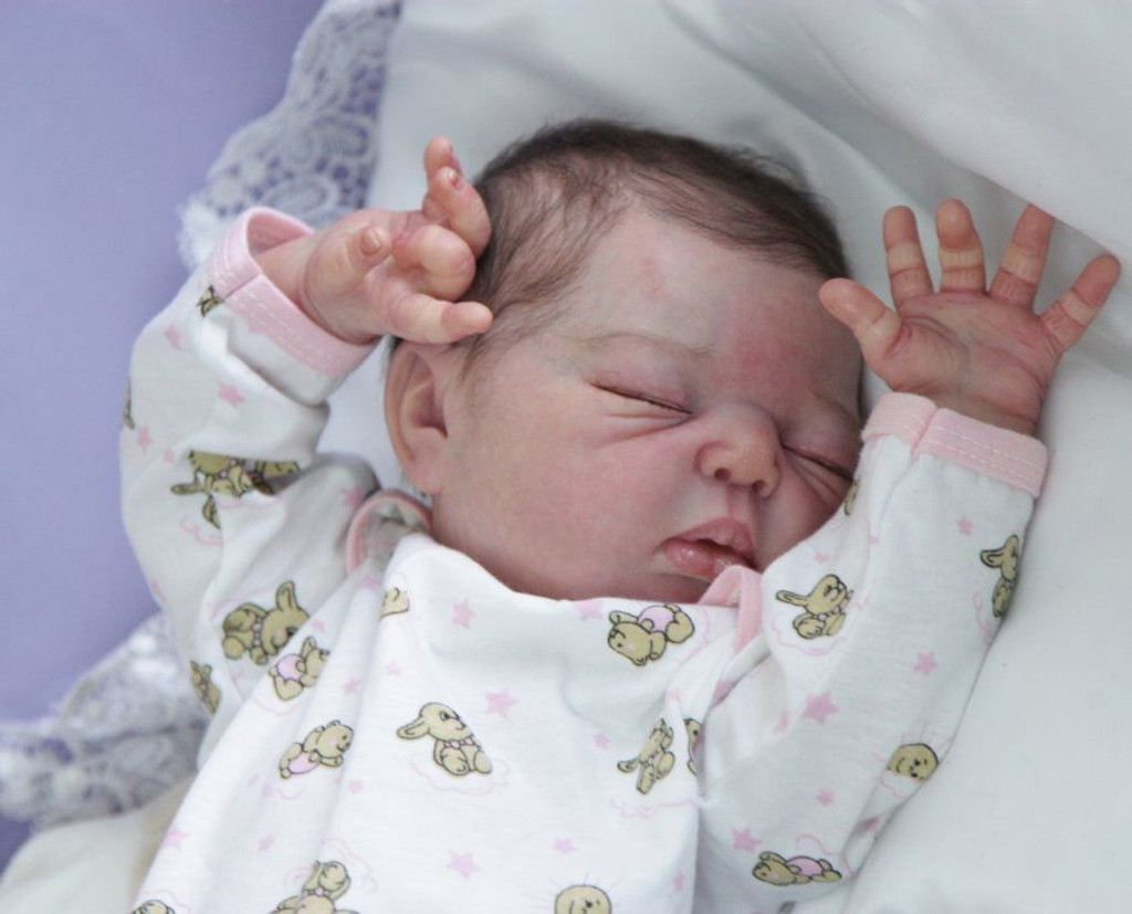 Lainey Reborn Vinyl Doll Head by Adrie Stoete  Mix & Match