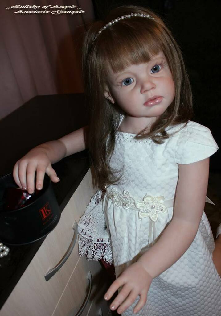 Angelica Reborn Vinyl Doll Kit by Reva Schick