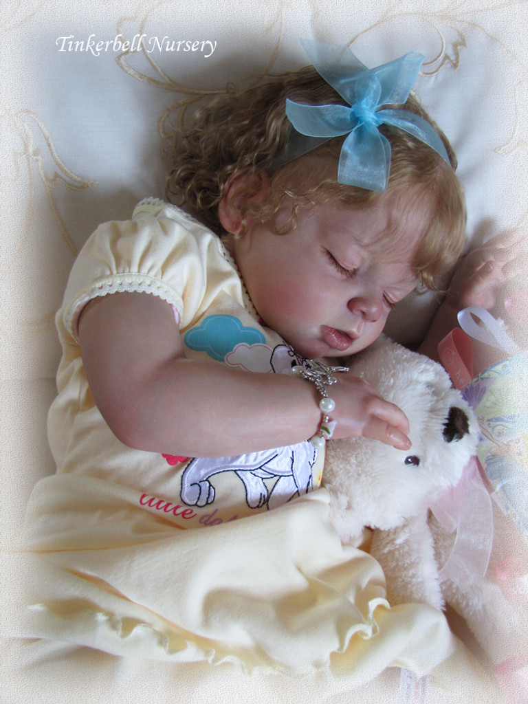 Arianna Asleep Reborn Vinyl Toddler Doll Kit by Reva Schick