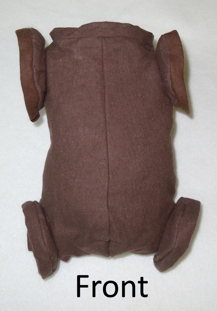 "Doe Suede Ethnic Body for 18"" Dolls Full Jointed Arms Full Jointed Legs #1493GE"