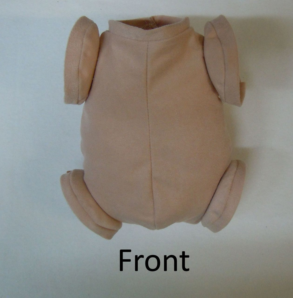 """Doe Suede Body for 22-24"""" Dolls Full Jointed Arms Full Jointed Legs #501"""