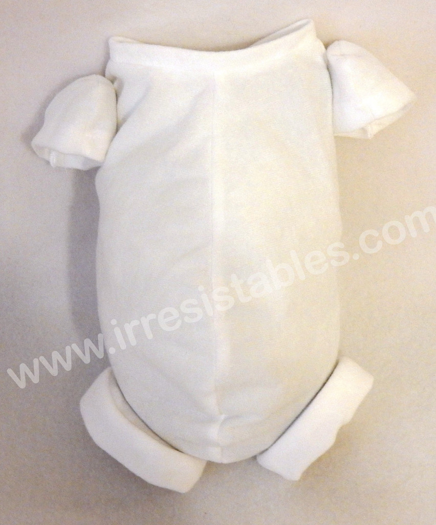 """German Doe Suede Body for 10"""" Dolls: 3/4 Jointed Arms Full Jointed Legs #1710GW"""