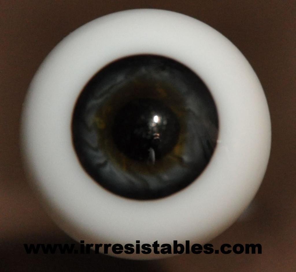 German Glass Eyes: Full Round Black Blue #52