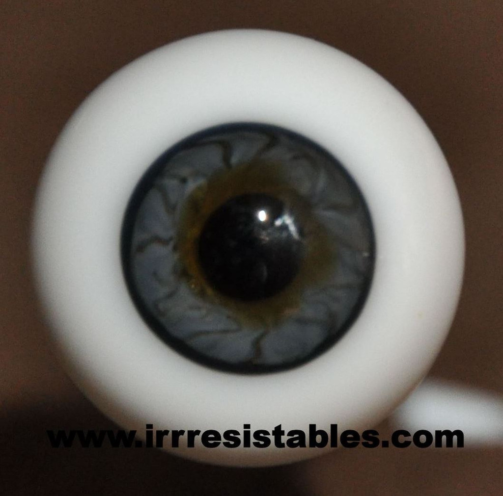 German Glass Eyes: Full Round Dark Blue #54