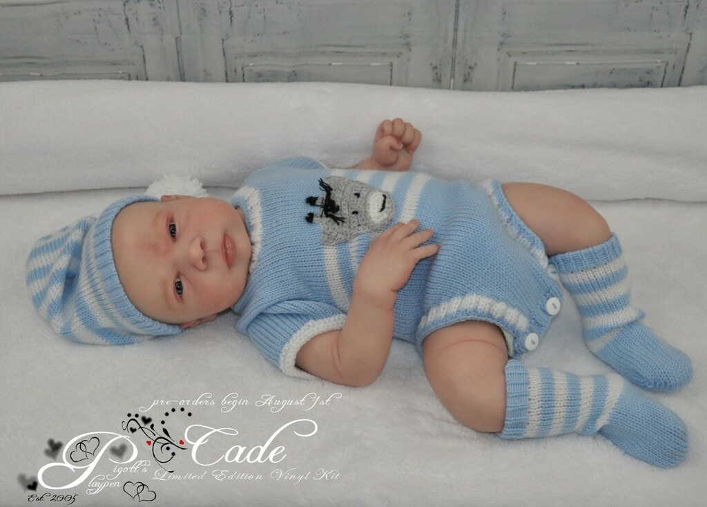 Cade Reborn Vinyl Doll Kit by Jorja Pigott