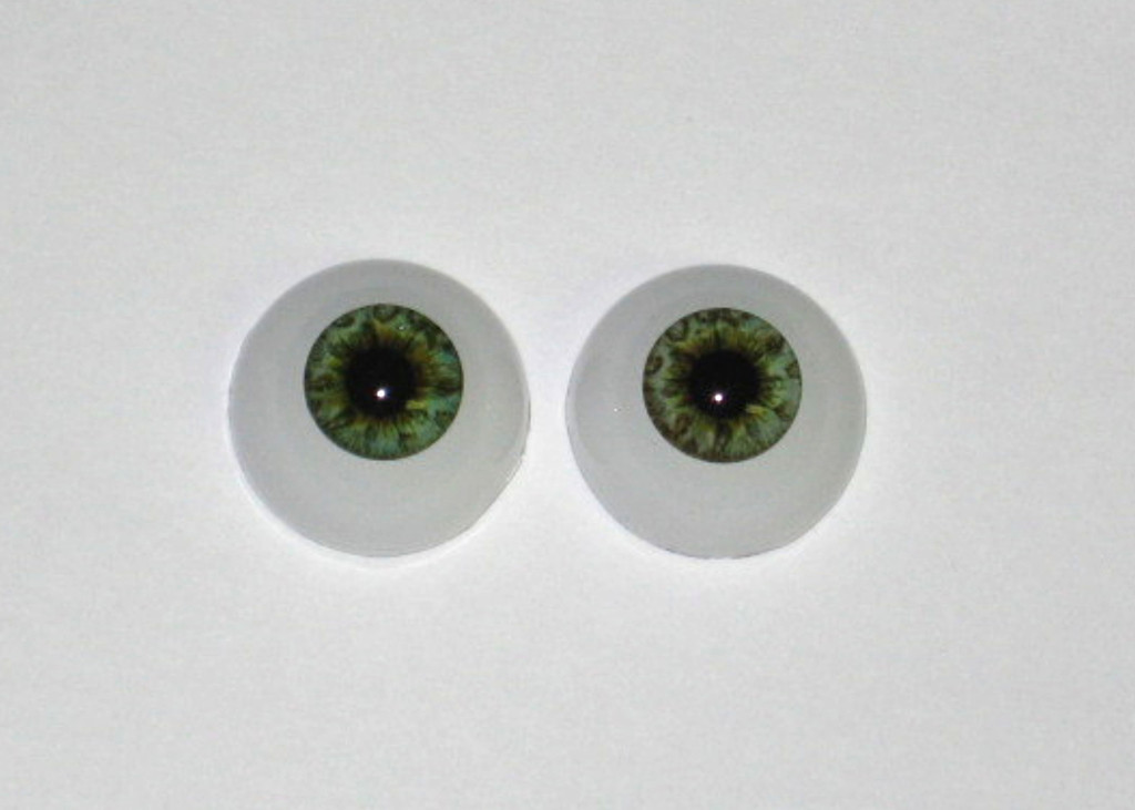 Ocean Green 18mm Full Round Real Eyes  ~ REBORN DOLL SUPPLIES