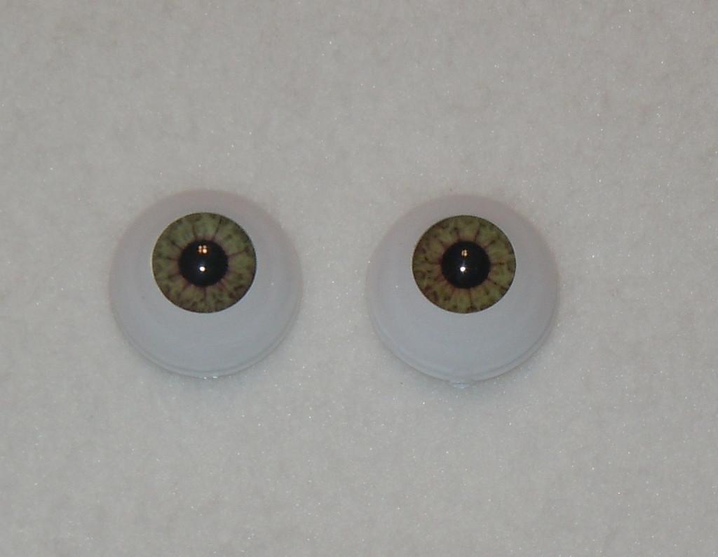 18mm Hazel Oval Glass Eyes Reborn Baby Doll Making Supplies
