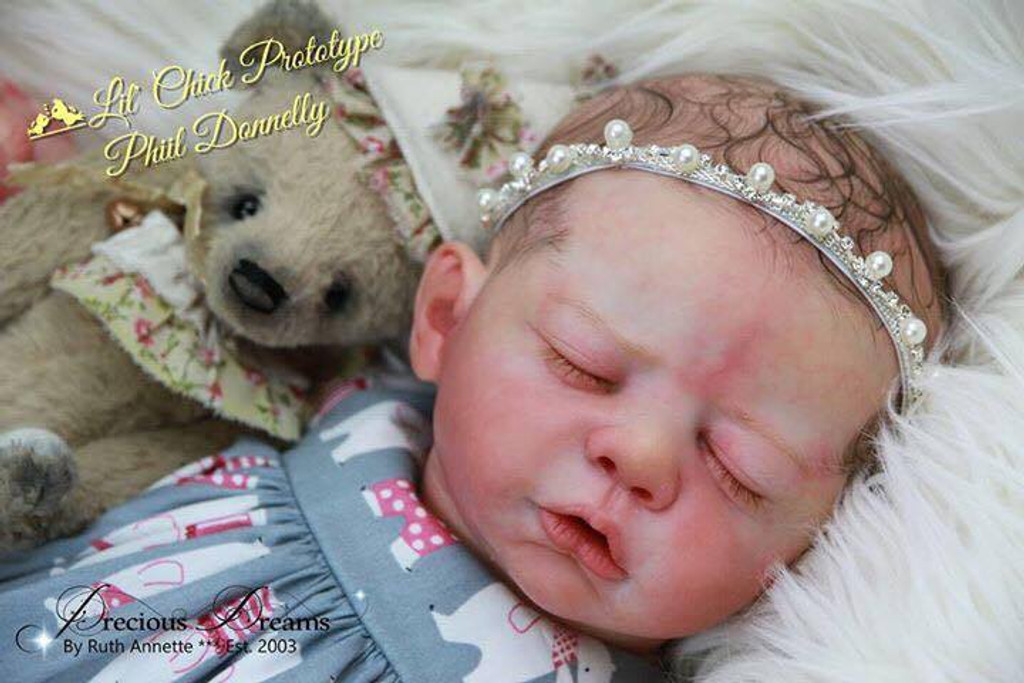 Lil Chick Reborn Vinyl Doll Kit by Philomena Donnelly