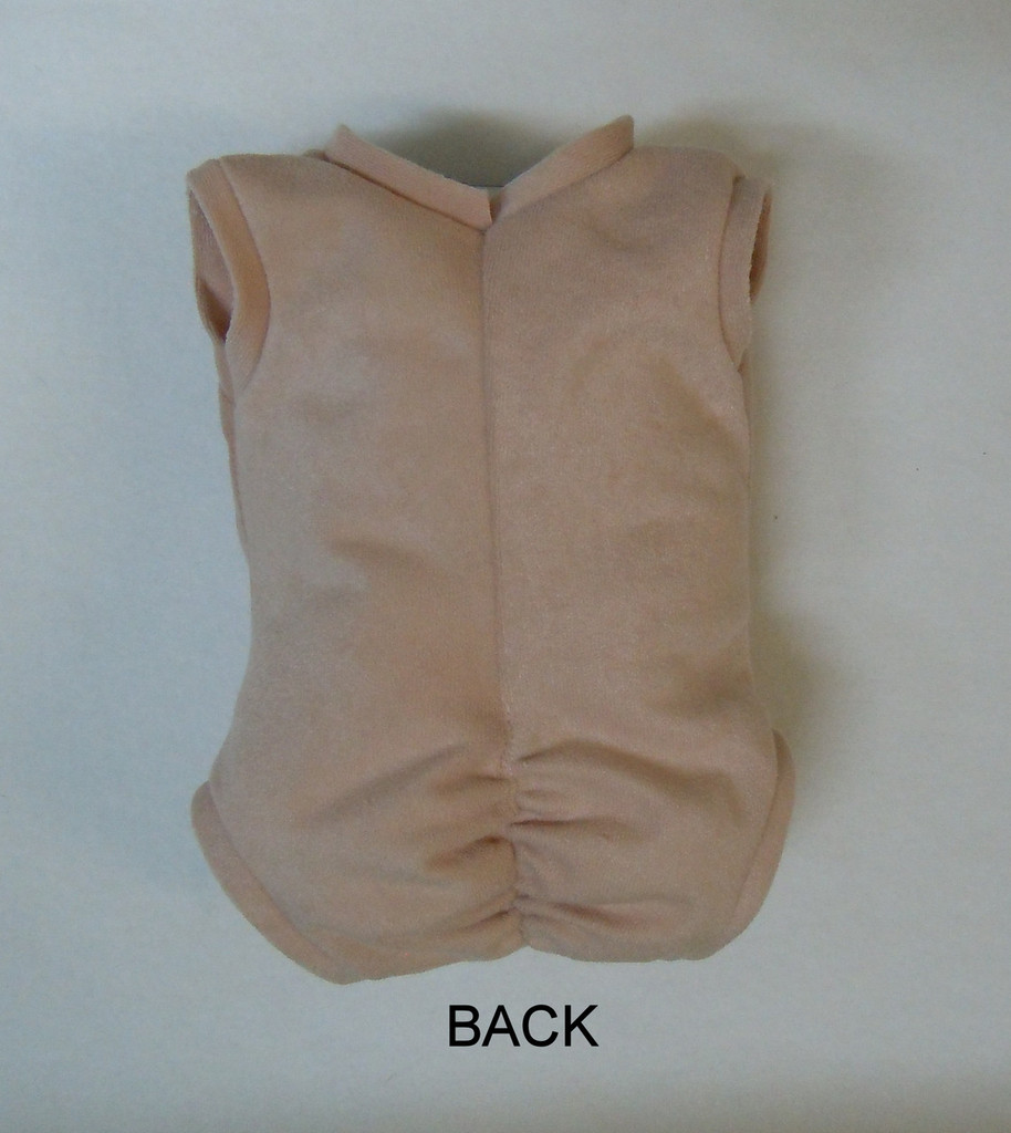 "Doe Suede Body for 22-24"" Dolls Full Unjointed Arms Full Unjointed Legs #1276"