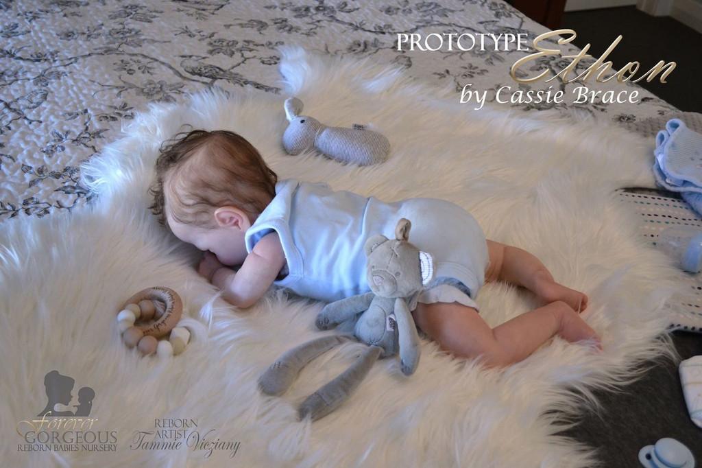 Ethon  Reborn Vinyl Doll Kit by Cassie Brace SOLD OUT