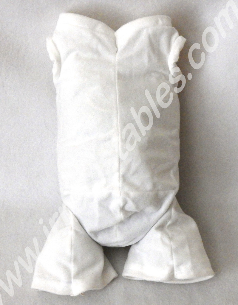 """German Doe Suede Body for 24-26"""" Dolls: Full Unjointed Arms 3/4 Jointed Legs #1496GW"""