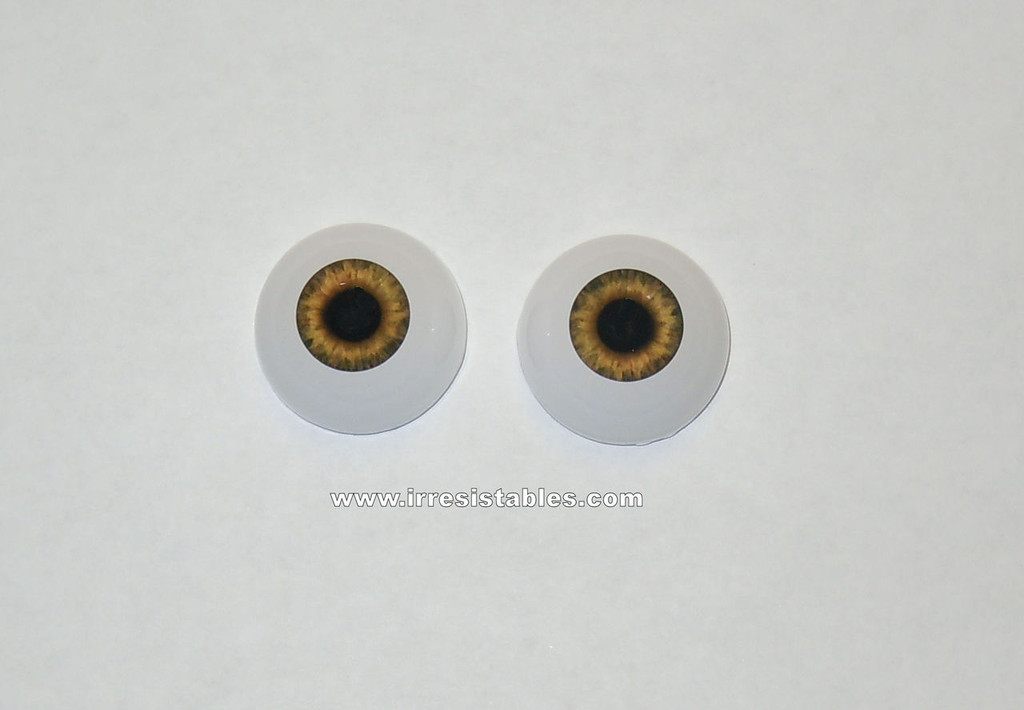 Acrylic Real Eyes in Sunrise Brown