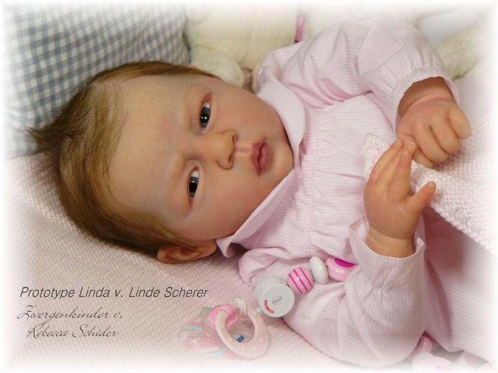 Linda Vinyl Reborn Doll Kit by Linde Scherer