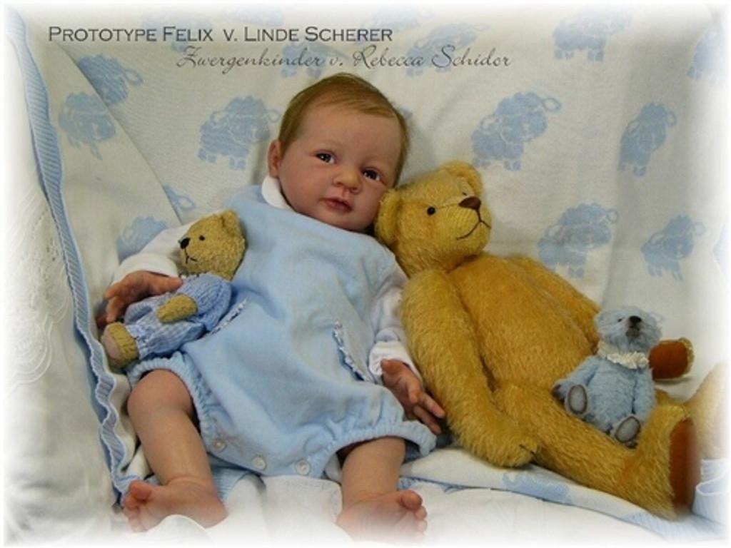 Felix Vinyl Reborn Doll Kit by Linde Scherer