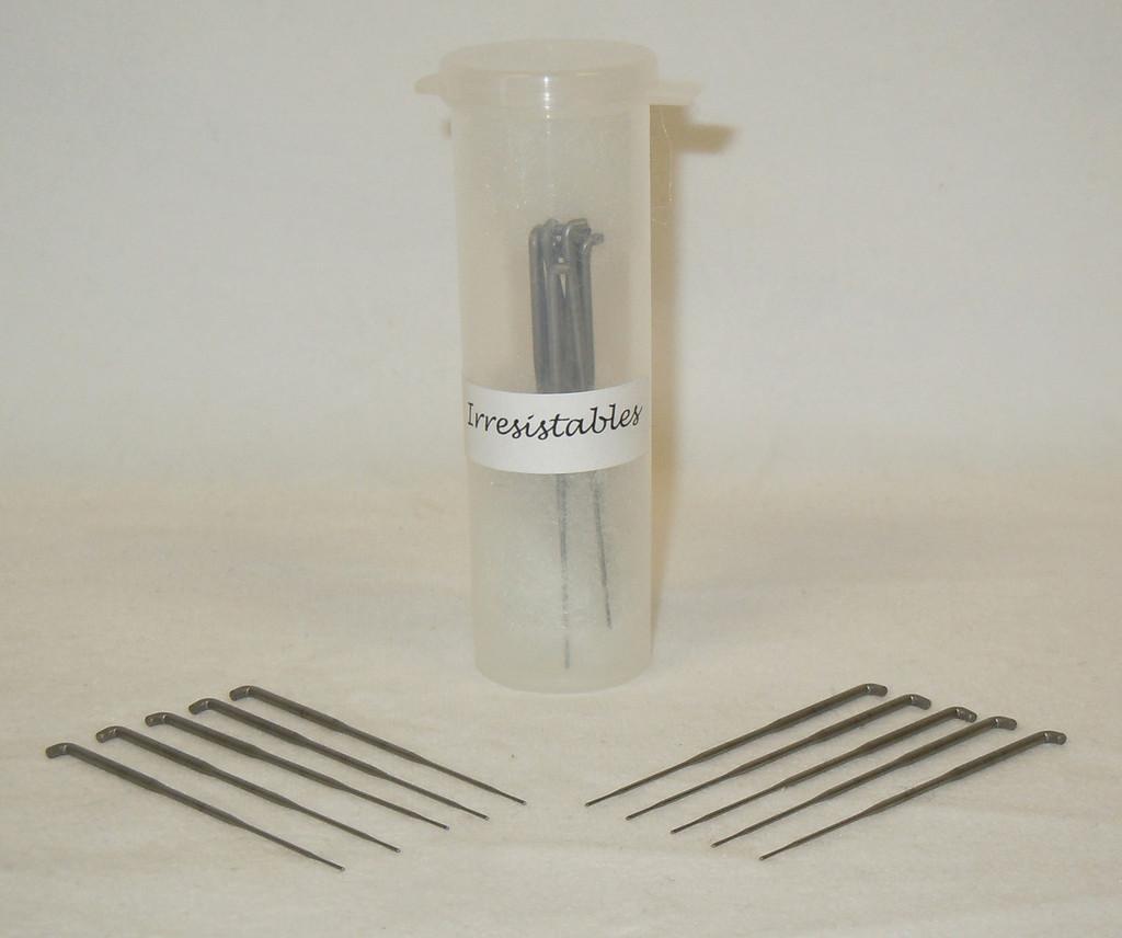 German Rooting Needles 43 Gauge With 0 Barbs (Forked)- Pack of 10