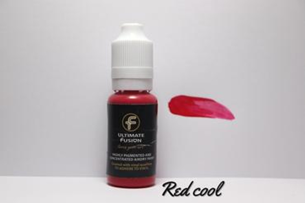 Ultimate Fusion All in One Air Dry Paint RED COOL 12ml Bottle (.4 ounce)