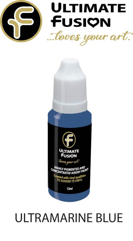 Ultimate Fusion All in One Air Dry Paint ULTRAMARINE BLUE 12ml Bottle (.4 ounce)