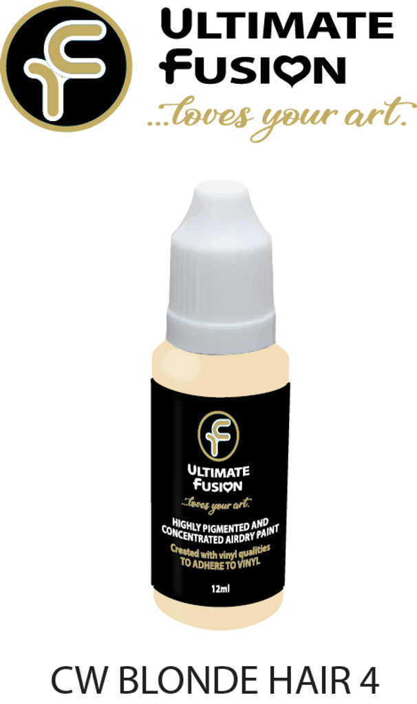 Ultimate Fusion Air Dry Paint Blonde Hair 4 12ml Bottle by Christina Woolley (.4 ounce)