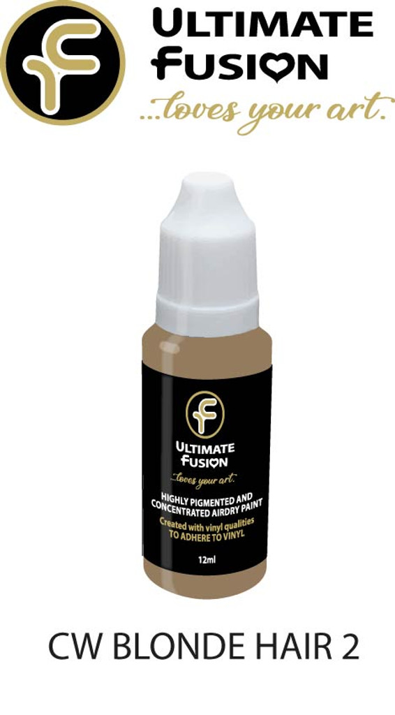 Ultimate Fusion Air Dry Paint Blonde Hair 2 12ml Bottle by Christina Woolley (.4 ounce)