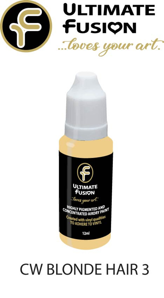 Ultimate Fusion Air Dry Paint Blonde Hair 3 12ml Bottle by Christina Woolley (.4 ounce)