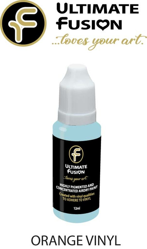 Ultimate Fusion All in One Air Dry Paint Orange Vinyl 12ml Bottle (.4 ounce)