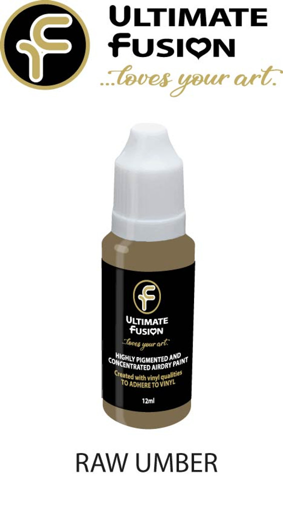 Ultimate Fusion All in One Air Dry Paint Raw Umber 12ml Bottle (.4 ounce)