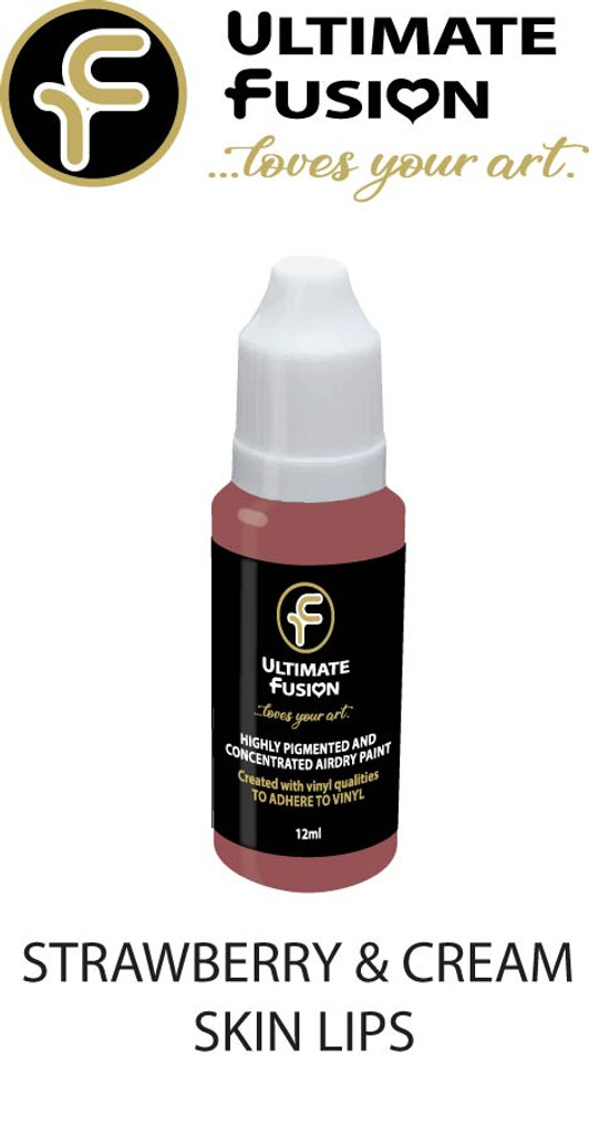 Ultimate Fusion All in One Air Dry Paint Strawberry & Cream skin Lips 12ml Bottle (.4 ounce)