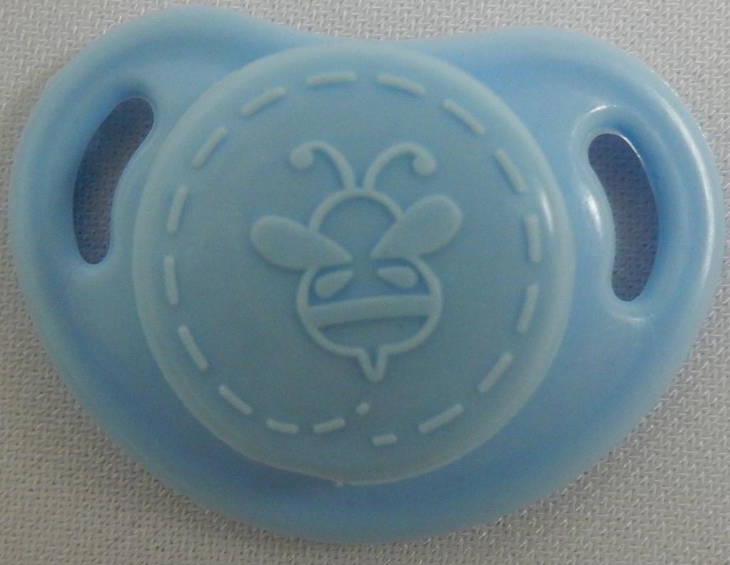 "HoneyBug CutiePie Micro Preemie Pacifier For 10-13"" Dolls-Sky Blue"
