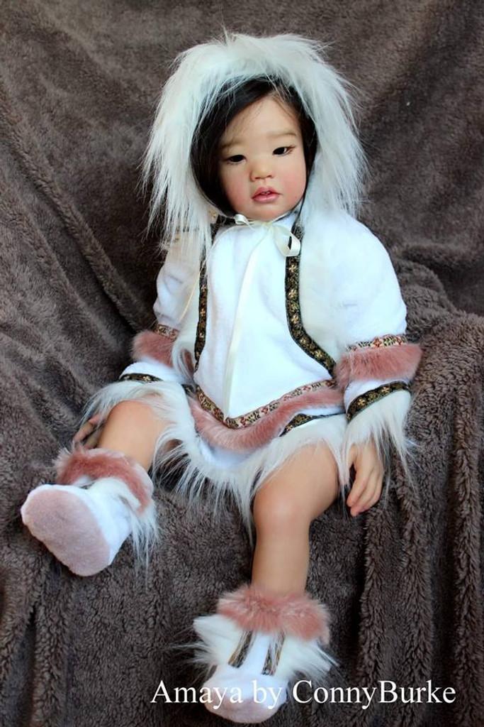 Amaya Reborn Vinyl Toddler Doll Kit by Conny Burke
