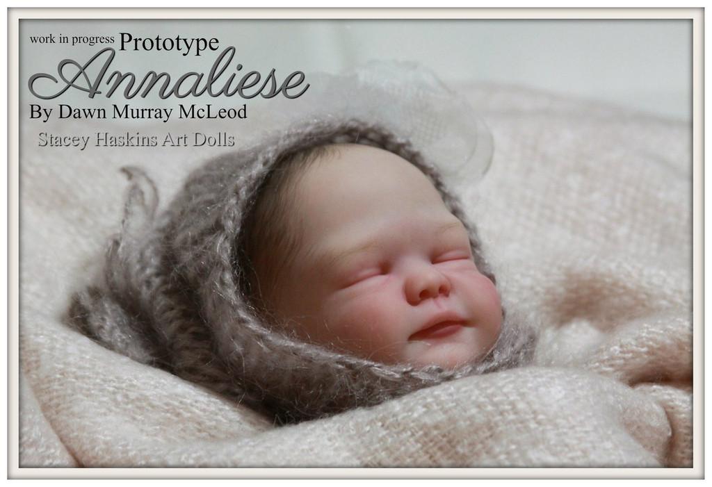 Annaliese Reborn Vinyl Doll Kit by Dawn Murray McLeod