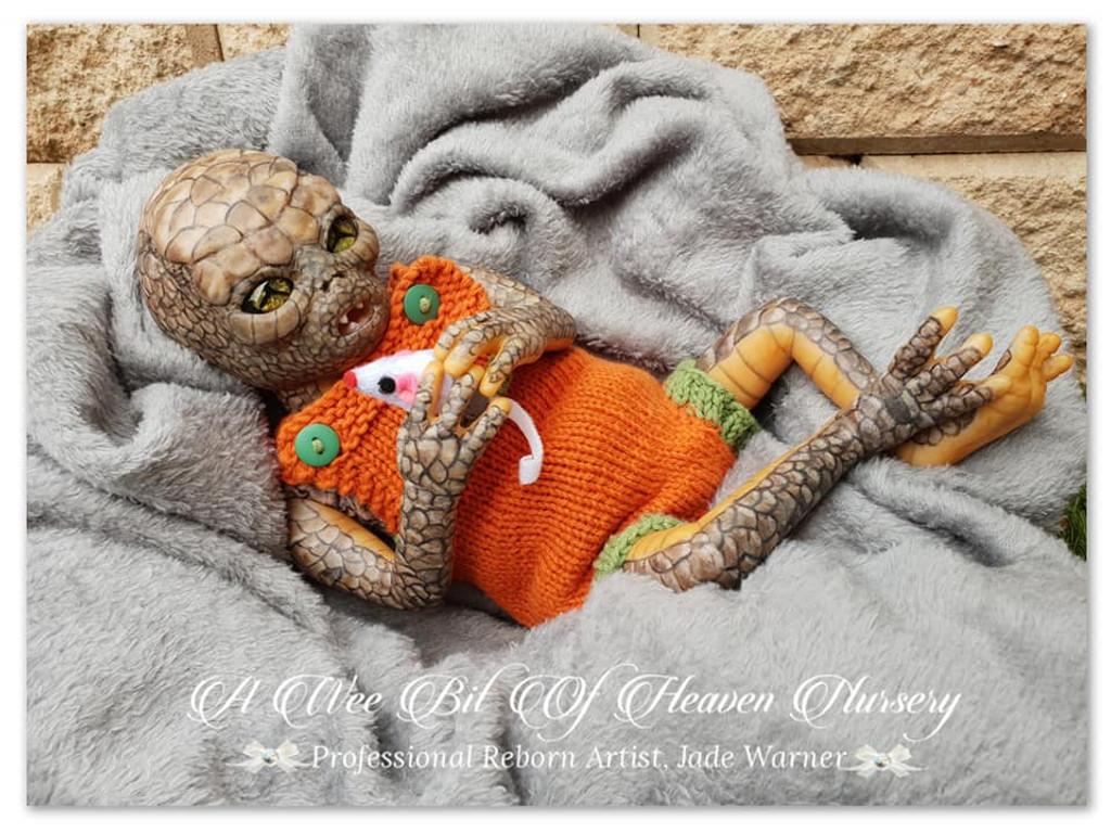 Iskadar Reborn Baby Alien Vinyl Doll Kit by Jade Warner Irresistables Exclusive!
