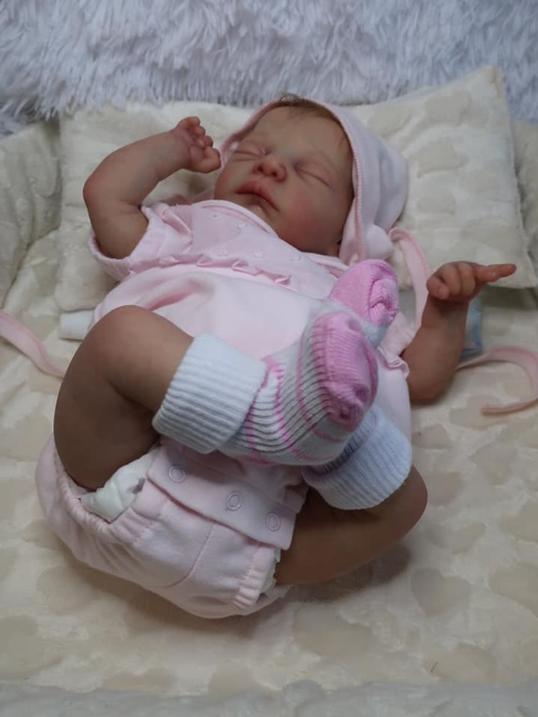 Mick Asleep Reborn Vinyl Doll Kit by Adrie Stoete