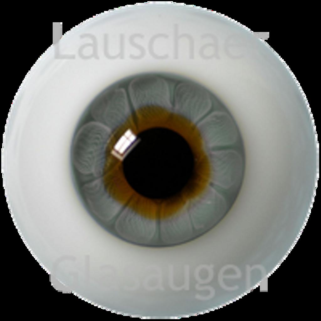 German Glass Eyes: Solid Half Round Flat Back Gray #32481