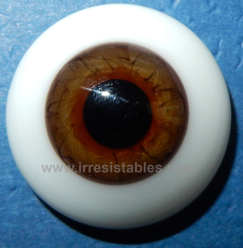 REBORN DOLLS Half Round Real Eyes 24mm Chocolate Brown ~ REBORN DOLL SUPPLIES