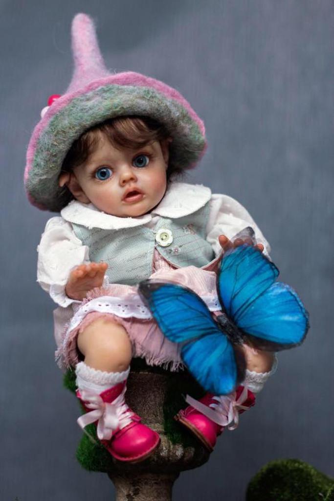 Flo The Mini ELf Reborn Vinyl Doll Kit by Natali Blick  SOLD OUT