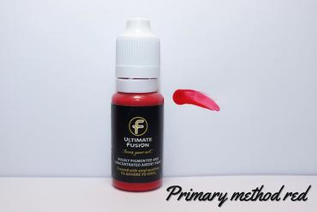 Ultimate Fusion All in One Air Dry Paint Primary Red 12ml Bottle (.4 ounce)