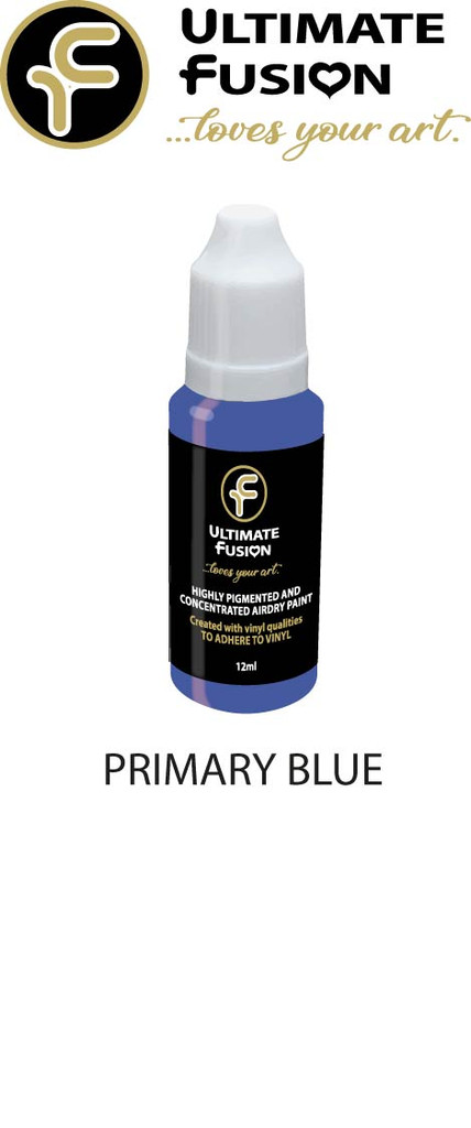 Ultimate Fusion All in One Air Dry Paint Primary Blue 12ml Bottle (.4 ounce)