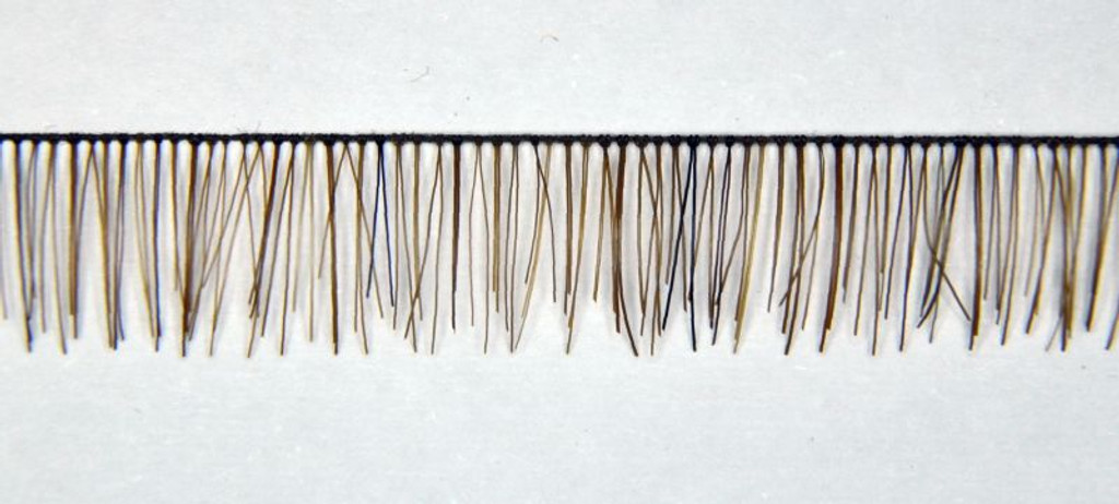 Human-Hair Eyelash Strips for Reborn Doll Kits 4-5 cm