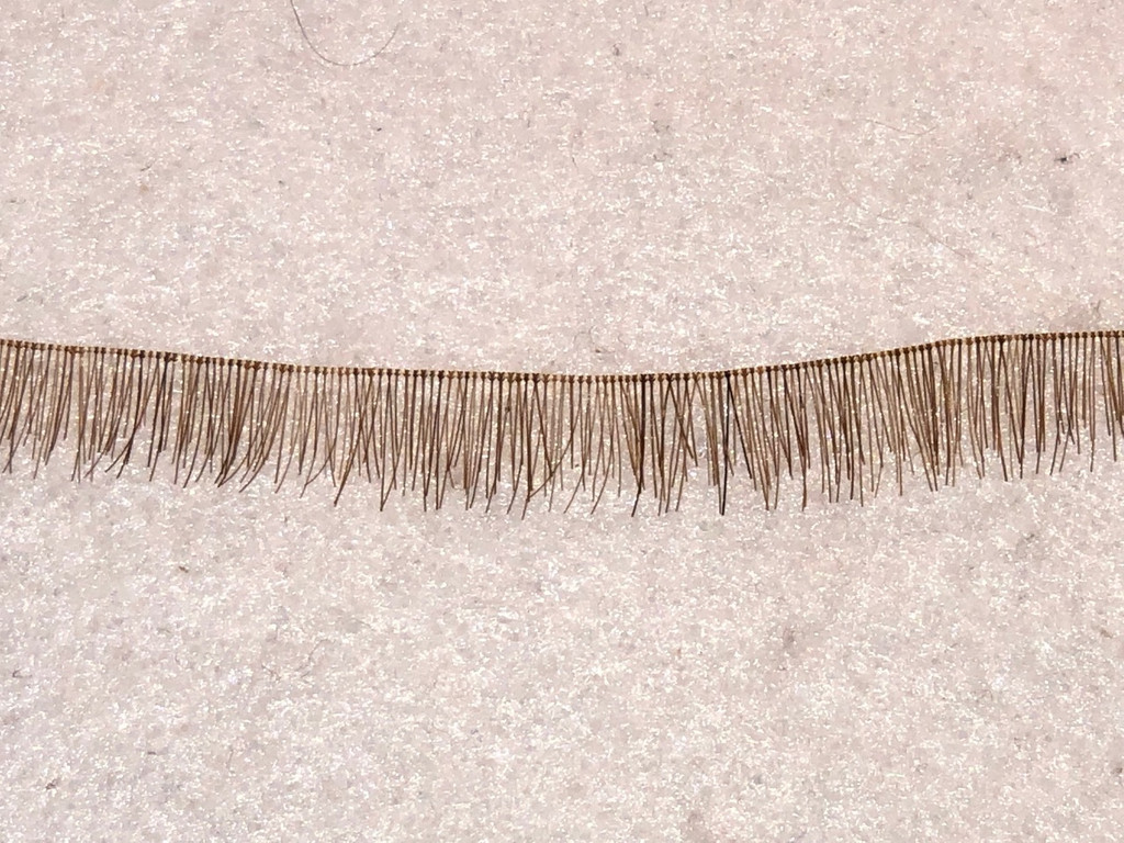 Human-Hair Eyelash Strips for Reborn Doll Kits 5-7 cm